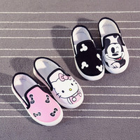 Spring Autumn Children's Shoes For Girls Boys Kids Shoes Cartoon Canvas Sneakers Children Flats Footwear