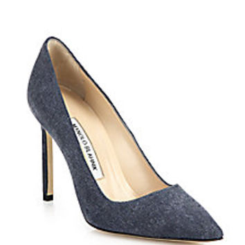 Manolo Blahnik - Denim Pumps - Saks Fifth Avenue Mobile