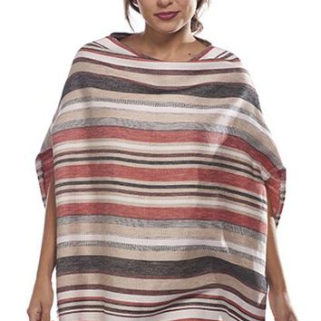 Striped Linen Poncho