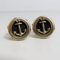 Vintage Cuff Links: Swank Anchors