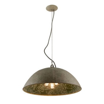 Troy F3655 Relativity Salvage Zinc Five-Light Extra Large Pendant with Chalkboard Interior