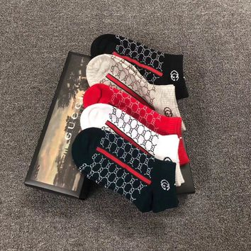 Gucci Fashion 5 pairs of set Sock Style #259