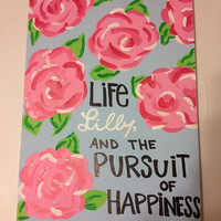 Lilly Pulitzer Quote Canvas