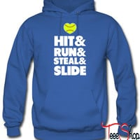 Hit Run Steal Slide hoodie