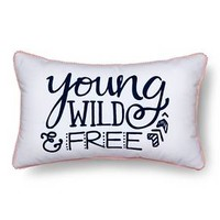 "Wild & Free Throw Pillow - 20""x12"" - Multicolor - Pillowfort™"