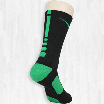 Black/Green Elite Socks | Rock 'Em Apparel