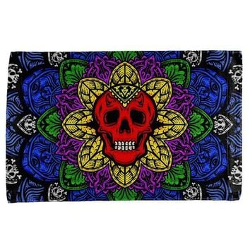 DCCKIS3 Halloween Demon Skull Mandala All Over Hand Towel