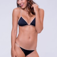 Dbrie Swim Cameron Thong Bottom - Noir Nude
