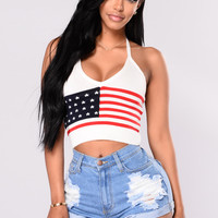 America's Sweetheart Tank Top - Flag