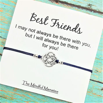 Best Friends Bracelets |  Long Distance Friendship | Friendship Bracelet | Celtic Bracelet | Matching Bracelets  | Best Friend Gift