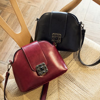 Summer Korean Vintage One Shoulder Bags Lock [8226384455]