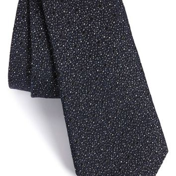 Men's rag & bone 'Heathered Dot' Silk & Wool Tie