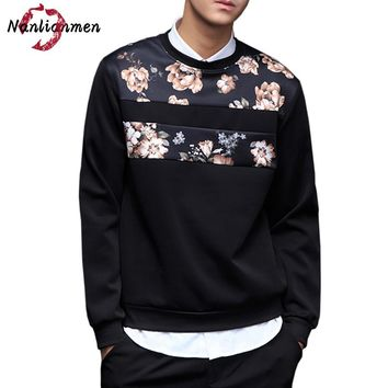 2017 Rushed New O-neck Casual Floral Sweatshirt Men Sudaderas Para Hombre Brand Hip Hop Mens Sweatshirts Male Moleton Masculino