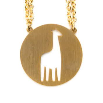 JAECI GIRAFFE SPIRIT ANIMAL NECKLACE INFP