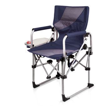 Meta Chair-Navy/grey compact sports chair with side table