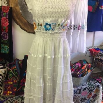 Campesino Embroidered Midi Dress