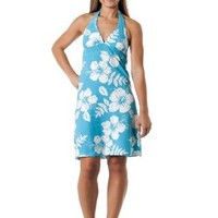 Amazon.com: Alki'i Missy Hibiscus Halter Summer Beach Sun Dress - Kauai Print: Clothing