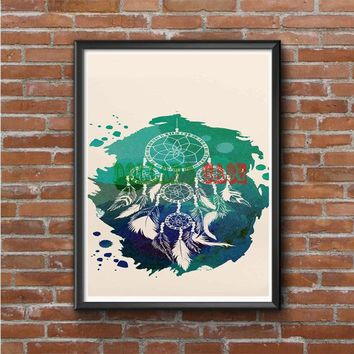 Watercolor Dreamcatcher Photo Poster