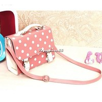 2013 New  Fashion Women Vintage Shopper Polka Dot package Messenger Shoulder Bag