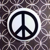 "Peace sign 1.25"" pinback button badge pin"