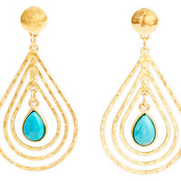 Triple Teardrop Earrings, TurquoiseEVELYN KNIGHT