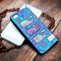Lilly Pulitzer Vineyard Vines whale Iphone 4 4s 5 5s 5c 6 6plus 7 case / cases