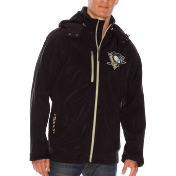 Pittsburgh Penguins Lateral Soft Shell Full Zip Jacket – Black