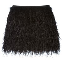Raoul ostrich feather skirt