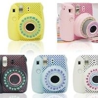 Camera Body Decoration Stickers For Fujifilm Polaroid Instax Mini8 Sun Dot