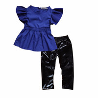 Newborn Baby Boys 2 Pieces Clothing Set Outfits Blue Dress T-shirt and Trousers Clothes sets 1-6 Years SM6