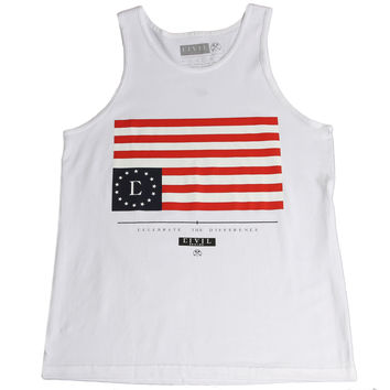 NICE KICKS  28.00. Civil Regime Home Team Rebel Flag Tank - White e4245561eec0