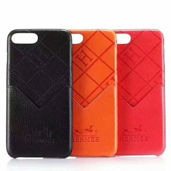 Hermes Tide brand personality card iPhone7 mobile phone case cover