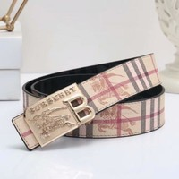 Burberry Woman Men Fashion Buckle Belt Leather Belt
