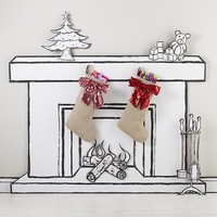 Sequin Bow Stocking (Red)