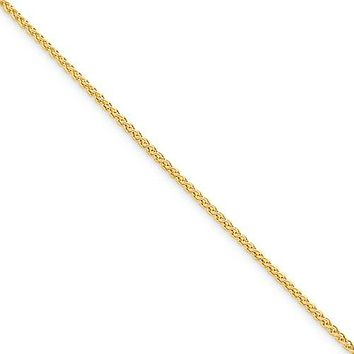 Sterling Silver Yellow Gold Plated 1.5mm Spiga Wheat Chain - Various Lengths Available