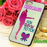 Bow To Toe Cheerleader for iphone4/4s, iphone 5, iphone 5s, iphone 5c and Samsung galaxy s3, Samsung galaxy s4 case