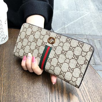 Long Leather Women Spoof GUCCI Fashion Wallet