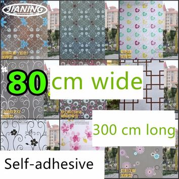 "Translucent Self-Adhesive Glass Film; 31.49""x 118.11"""