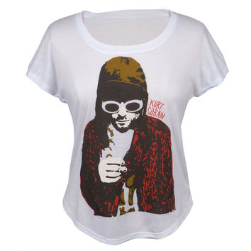 Kurt Cobain  - Smoking Juniors Dolman T-Shirt