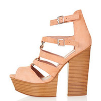 LUCY Split Wedge Sandals