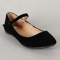 Doby-4 Round Toe Mary Jane Ballet Flat