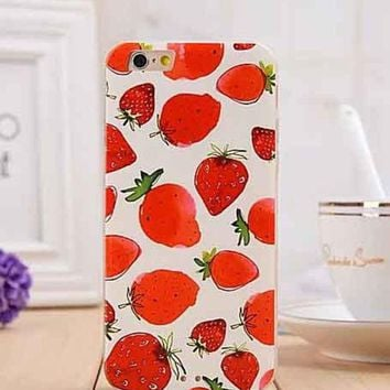 LMFON1O Day First Strawberry iPhone 6 Phone Case