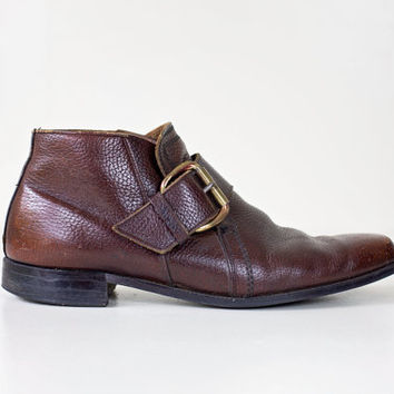 mens beatle boots / brown leather boots / mens boots size 11.5