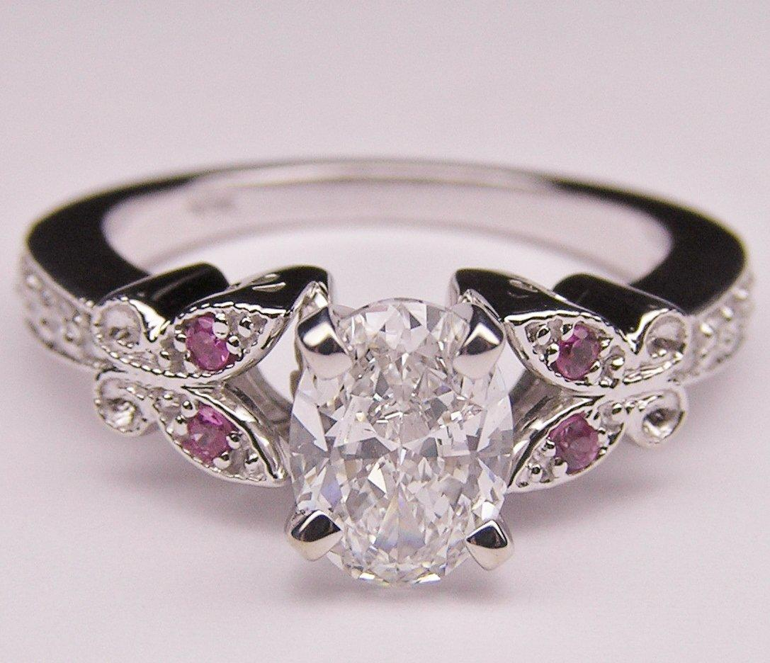 Engagement Ring Oval Diamond Butterfly From Mdc Diamonds