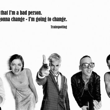 Trainspotting Quotes Classic Old Movie Film Motivational Poster