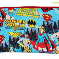 NEW Wonder Woman Makeup Bag | Supergirl Makeup Case | Batgirl Makeup Organizer | Pencil Case