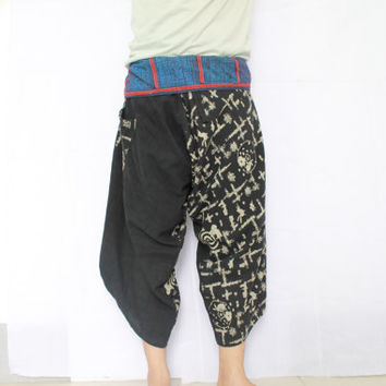 samurai pants,Thai Fisherman Pants, Yoga pants, Harem pants, Spa pants,clothes from cotton, 100 % cotton handmade from thailand
