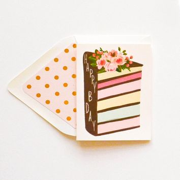 THE FIRST SNOW BIRTHDAY LAYERED CAKE CARD