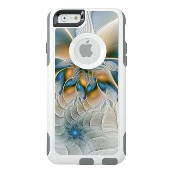 Soaring, Abstract Fantasy Fractal Art With Blue OtterBox iPhone 6/6s Case
