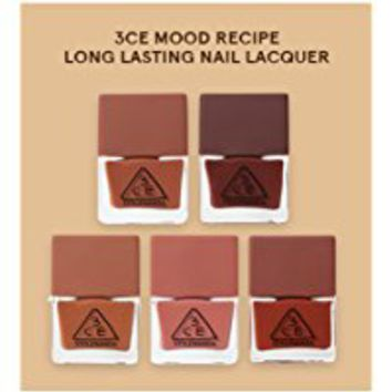 3CE (3 Concept Eyes) Stylenanda Red n Mood Recipe Long Lasting Nail Lacquer Manicure 7 SET
